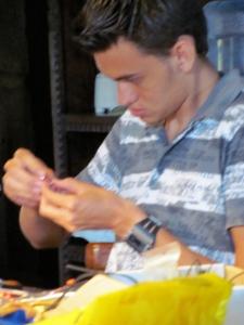Alex making crosses